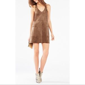 BCBG MAXAZRIA Abbot Faux Suede Dress